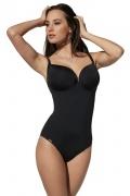 Kris-Line Beach czarny 1cz DECO strój kąpielowy z usztywnianą miską
