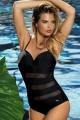 Self 8030Z1 V19 strój kąpielowy 1-częściowy czarny tiul