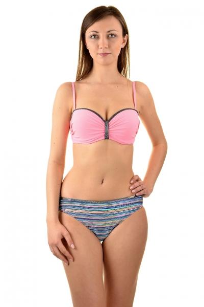 Gabbiano Ashley 06-3A puder róż paski strój kąpielowy komplet