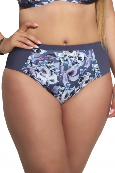 Kris-Line Marsylia violet figi midi do stroju kąpielowego