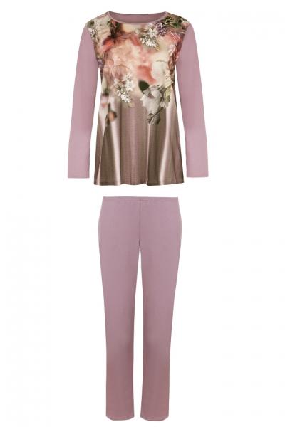 Cybele 7-810301 633 piżama fiolet kwiaty