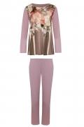 Cybele Naturana piżama fiolet kwiaty 7-810301 633