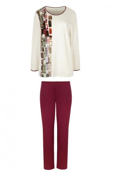 Cybele 7-810304 562 piżama ecru prostokąty