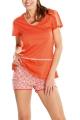 Cybele Naturana piżama z szortami pomarańczowa 7-810118 556