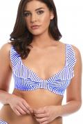 Freya Totally Stripe kobalt biustonosz high apex miękki do stroju kąpielowego