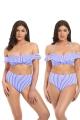 Freya Totally Stripe kobalt biustonosz bardot do stroju kąpielowego