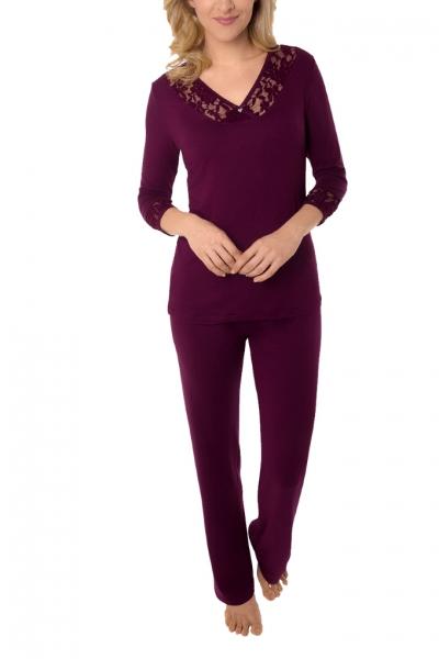 Cybele Naturana piżama burgund 7-810314 660