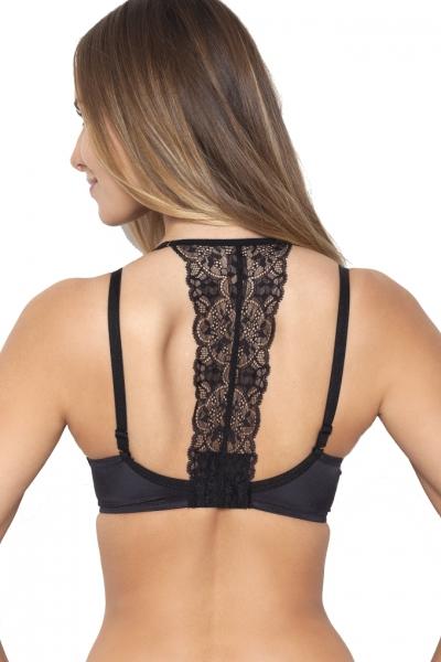 Samanta Rosalia Q106 czarny ozdoba dekoltu na plecach