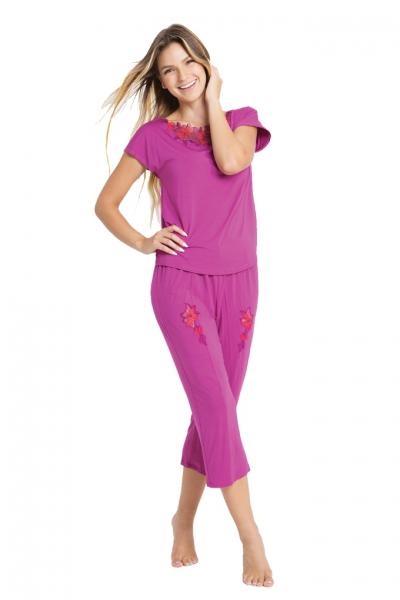 Vanilla piżama damska B78 hiacynt