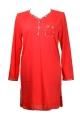 Cybele Naturana koszula nocna czerwona-krata 80501 064