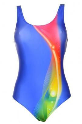 Moraj young tęcza-niebieski strój basenowy dziewczęcy