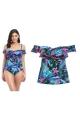 Freya Jungle Flower black tankini - koszulka kąpielowa