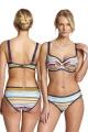 Panache Aspen stripe multi biustonosz balconnet do stroju kąpielowego