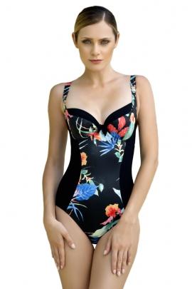 20fbacb943e8c5 Dalia anak k26 czarny-kwiaty biustonosz miękki do stroju kąpielowego ...