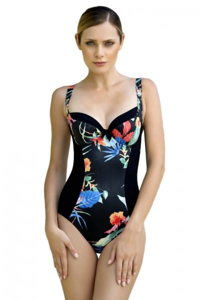 Dalia Anak K26 czarny-kwiaty strój jednoczęściowy