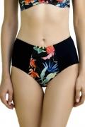 Dalia Anak czarny-kwiaty figi maxi do stroju kąpielowego