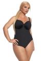 Kris-Line Beach czarny strój kąpielowy 1-częściowy soft na fiszbinach