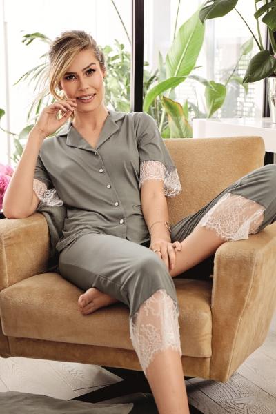Vanilla piżama damska 3207 76 agave green