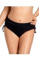 Nessa Negra czerń figi midi z troczkami N03 do stroju kąpielowego