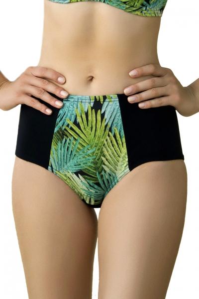 Dalia Kim czarno-zielone figi maxi do stroju kąpielowego