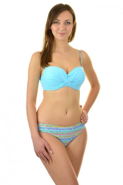 Gabbiano Elin błękit-warkocze strój kąpielowy komplet