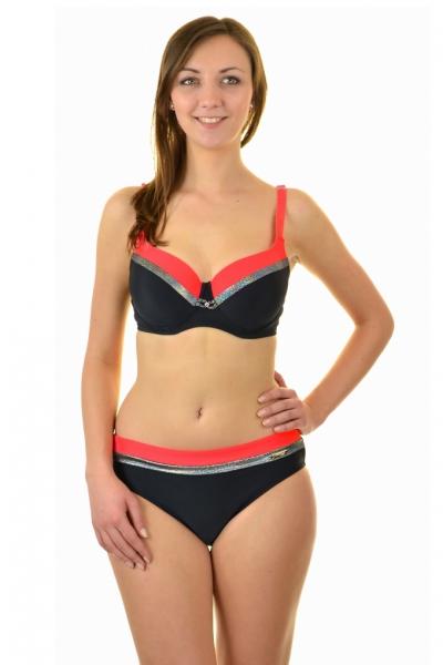 Gabbiano Esther czarno-czerwony strój kąpielowy komplet