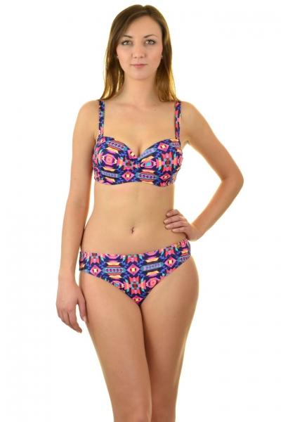 7fe8341831c252 Self 730T19 geometryczny strój kąpielowy dwuczęściowy