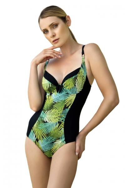 Dalia Kim K26 czarno-zielony strój kąpielowy jednoczęściowy