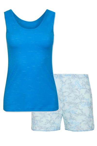 Cybele Naturana piżama 7-810347 202 niebieska-kwiaty szorty