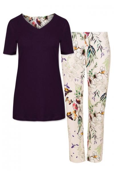 Cybele Naturana piżama kwiaty wiśni 7-810340 561