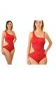 Feba F103/639 czerwony 1cz. strój kąpielowy