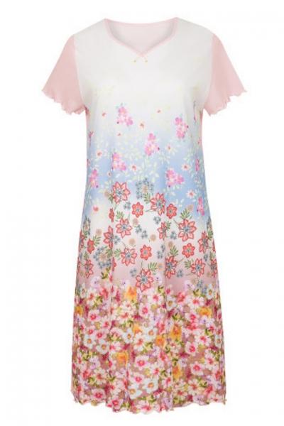 Cybele Naturana 7-800358 909 koszula nocna biała-róż kwiaty