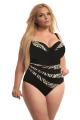 KrisLine Zanzibar czarny kostium kąpielowy jednoczęściowy