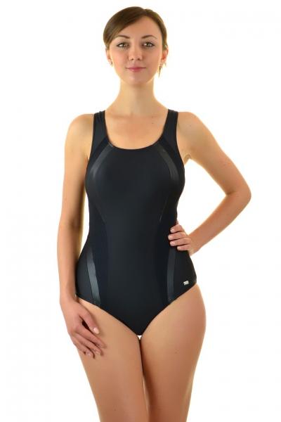 Self 34A V11 czarny strój kąpielowy basenowy jednoczęściowy