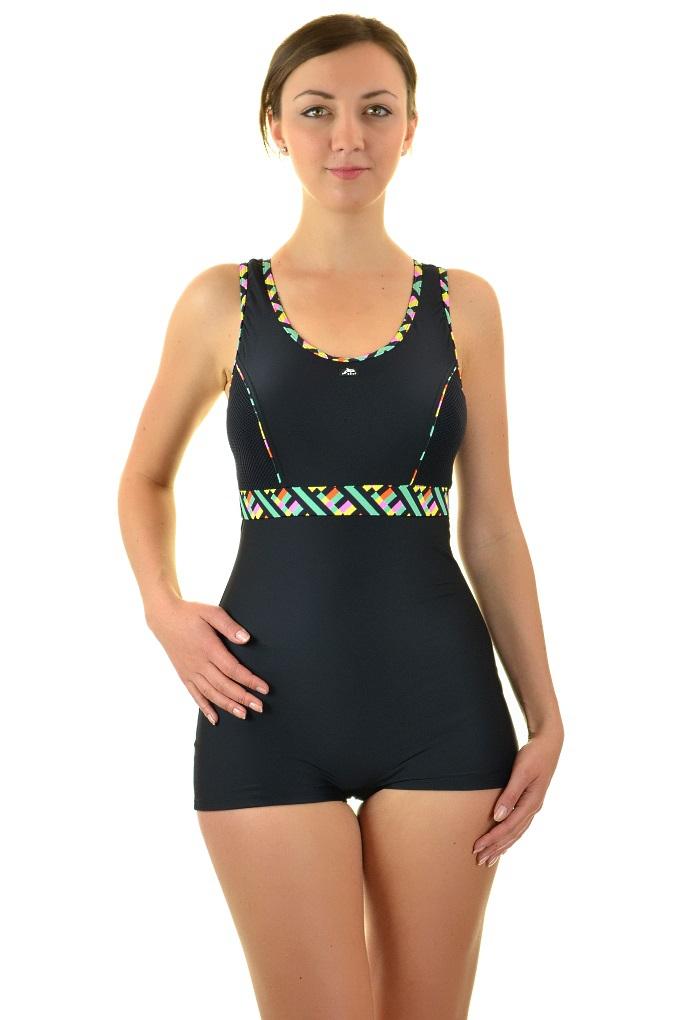 0b50219ab8e080 Self 32BSZ V4 czarny strój kąpielowy basenowy z szortami jednoczęściowy. Loading  zoom
