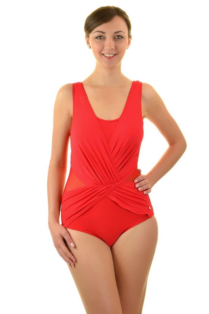 3bb737a0be4ff1 Self 1006n v6 czerwień strój kąpielowy jednoczęściowy - Biustyna