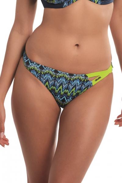 Kris-line San Remo granat-limonka figi RIO asymetryczne do stroju kąpielowego