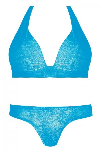 c08872d58fe0e9 Self 703A19 V12 niebieski-plusz strój kąpielowy dwuczęściowy komplet