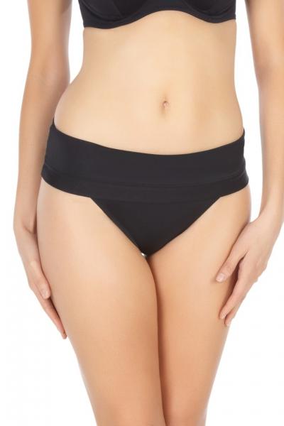 Panache Isobel majtki z wywijanym pasem strój kąpielowy black