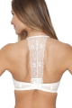 Samanta Rosalia Q106 kremowa ozdoba dekoltu na plecach