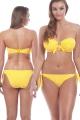 Freya Beach Hut żółty biustonosz bandeau do stroju kąpielowego
