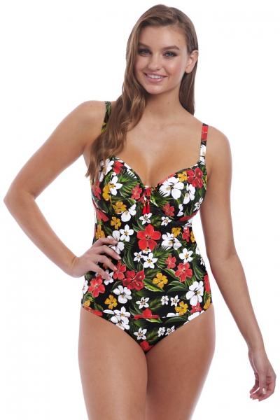 Freya Tiki Bar multi tankini plunge koszulka kąpielowa