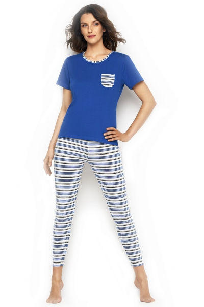 Cybele Naturana piżama damska niebieska-paski 7-810375 021