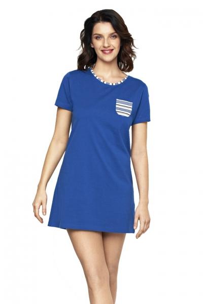 Cybele Naturana koszula nocna niebieska-paski 7-800375 021