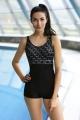 Self 29SZ geometryczny-czerń strój kąpielowy basenowy 1cz