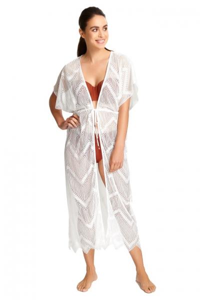 Panache Beachwear biała sukienka plażowa