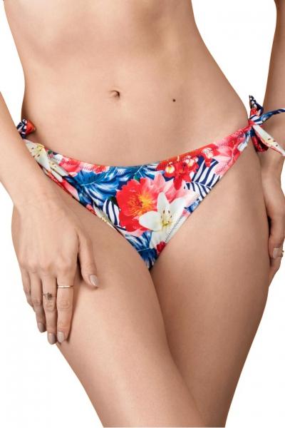 Dalia Simone kwiaty niebiesko-czerwone figi mini do stroju kąpielowego
