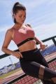 Panache Sport rose black biustonosz sportowy bez fiszbin