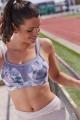 Panache Sport pastel retro biustonosz sportowy z fiszbinami