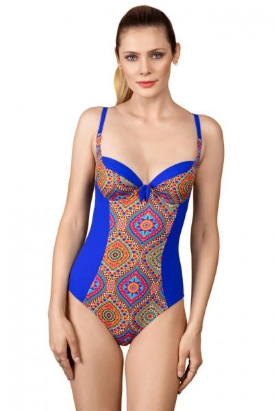 Dalia Holly 1cz K26 kobalt mozaika jednoczęsciowy strój kąpielowy